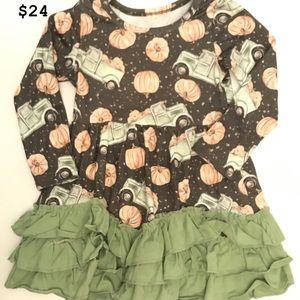 Pumpkin ruffle dress